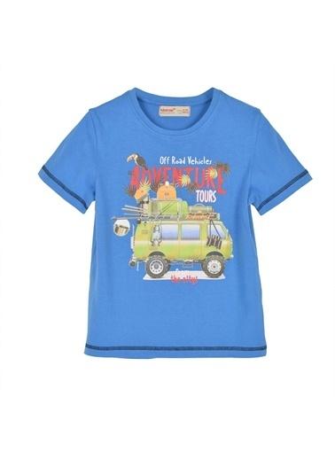 Silversun Kids Erkek Çocuk Baskılı Kısa Kollu Tişört Bk 215414 Saks